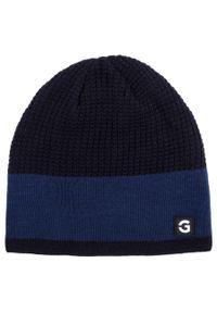 Niebieska czapka Giacomo Conti casualowa