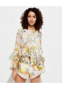 Beżowa bluzka Camilla z nadrukiem