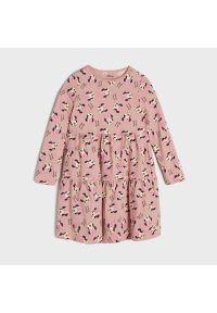 Sinsay - Sukienka Myszka Minnie - Różowy. Kolor: różowy. Wzór: motyw z bajki