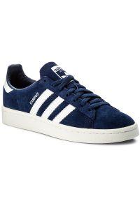 Niebieskie półbuty Adidas z paskami, z cholewką, w paski