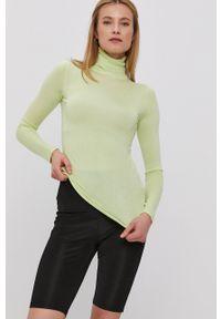 TALLY WEIJL - Tally Weijl - Sweter. Typ kołnierza: golf. Kolor: zielony. Długość rękawa: długi rękaw. Długość: długie