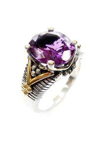 Braccatta - AMETYSTOWY PŁOMIEŃ Srebrny pierścionek sygnet ametyst 5,7 ct.. Materiał: srebrne. Kolor: srebrny, wielokolorowy, fioletowy. Kamień szlachetny: ametyst