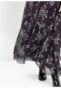Biała spódnica bonprix w kwiaty