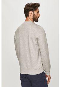 Szara bluza nierozpinana Lacoste gładkie, casualowa, bez kaptura