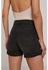 Haily's - Szorty jeansowe. Okazja: na co dzień. Stan: podwyższony. Kolor: czarny. Materiał: jeans. Styl: casual