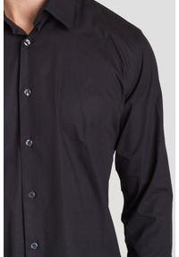 Czarna koszula Just Cavalli na co dzień, na lato, casualowa