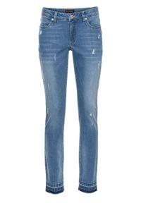 Dżinsy ze stretchem bonprix jasnoniebieski denim. Kolor: niebieski