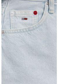 Tommy Jeans - Spódnica jeansowa bawełniana. Okazja: na co dzień. Stan: podwyższony. Kolor: niebieski. Materiał: bawełna. Styl: casual