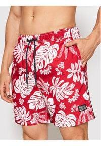 Superdry Szorty kąpielowe Campus Hawaiian M3010120A Czerwony Regular Fit. Kolor: czerwony #1