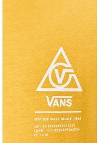 Żółta koszulka z długim rękawem Vans na co dzień, z nadrukiem, casualowa #5