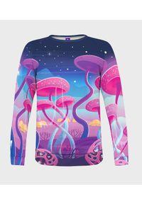 MegaKoszulki - Bluza damska fullprint Magic Mushrooms. Długość: długie. Styl: klasyczny