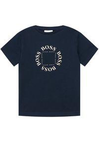 Niebieski t-shirt BOSS