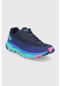 Hoka One One - Buty Torrent 2. Nosek buta: okrągły. Zapięcie: sznurówki. Kolor: niebieski. Materiał: guma. Wzór: geometria. Sport: bieganie