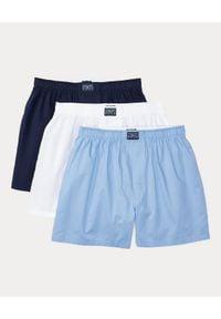 Ralph Lauren - RALPH LAUREN - Zestaw bokserek (3-pack). Kolor: biały. Materiał: bawełna. Wzór: aplikacja