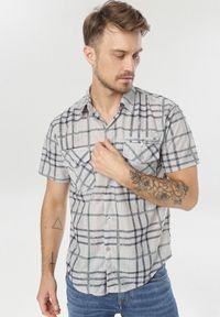 Szara koszula casual Born2be