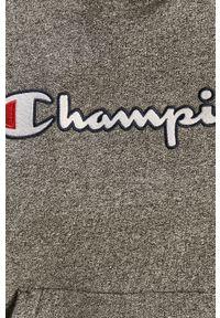 Champion - Bluza bawełniana. Okazja: na co dzień. Kolor: szary. Materiał: bawełna. Długość rękawa: długi rękaw. Długość: długie. Wzór: aplikacja. Styl: casual