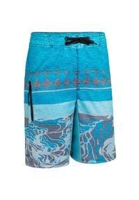 OLAIAN - Spodenki Surfing Bs 500L Dla Dzieci. Kolor: niebieski. Materiał: poliester, materiał. Długość: długie