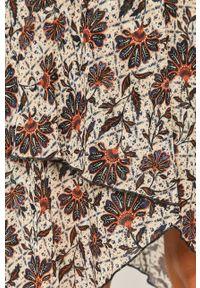 Wielokolorowa sukienka Pepe Jeans mini, na ramiączkach, w kwiaty, casualowa