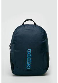 Niebieski plecak Kappa z nadrukiem