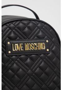 Love Moschino - Plecak. Kolor: czarny. Wzór: aplikacja #6