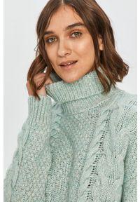 Miętowy sweter Answear Lab z długim rękawem, wakacyjny, długi