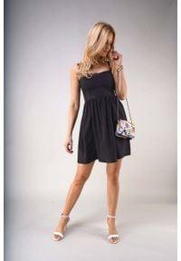 Czarna sukienka wizytowa Nommo na lato