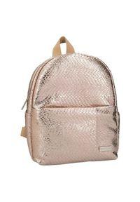 Top Model Model plecaka mini, Złoty, z wężowym wzorem. Kolor: złoty