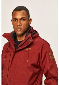Czerwona kurtka columbia z kapturem
