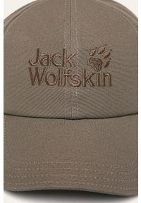 Oliwkowa czapka z daszkiem Jack Wolfskin gładkie