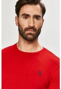 Polo Ralph Lauren - T-shirt. Typ kołnierza: polo. Kolor: czerwony. Materiał: dzianina. Wzór: gładki