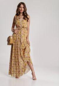 Renee - Żółta Sukienka Pasiles. Kolor: żółty