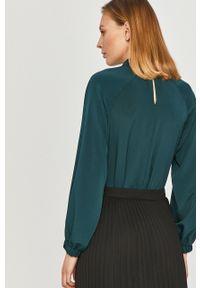 Zielona bluzka Answear Lab wakacyjna, na co dzień, z długim rękawem