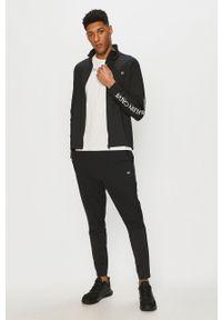 Czarna bluza rozpinana Calvin Klein Performance na co dzień, z nadrukiem, casualowa