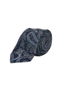 Niebieski krawat Tommy Hilfiger Tailored paisley