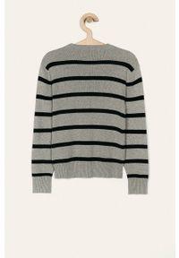 Szary sweter Polo Ralph Lauren na co dzień, casualowy