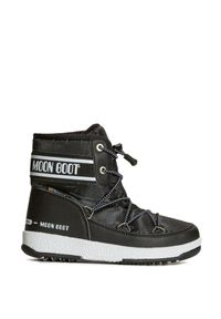 Moon Boot - Buty zimowe MOON BOOT JR BOY MID WP 2. Okazja: na spacer. Materiał: skóra ekologiczna, kauczuk, nylon. Szerokość cholewki: normalna. Sezon: zima