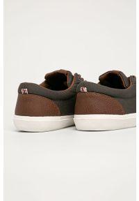 Szare sneakersy Jack & Jones na sznurówki, z cholewką, z okrągłym noskiem