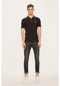 Czarna koszulka polo Armani Exchange na co dzień, casualowa
