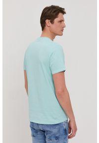 Pepe Jeans - T-shirt Miles. Okazja: na co dzień. Kolor: turkusowy. Wzór: nadruk. Styl: casual