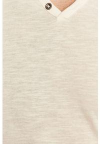 Biały t-shirt Jack & Jones casualowy, na co dzień