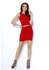 Czerwona spódnica mini IVON