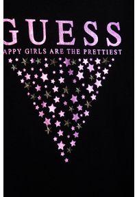 Czarna sukienka Guess Jeans z długim rękawem, casualowa
