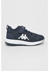 Niebieskie buty sportowe Kappa na rzepy, z cholewką