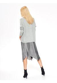 Szary sweter TROLL długi, z aplikacjami