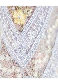 NEEDLE & THREAD - Sukienka mini Reverie Rose. Typ kołnierza: dekolt gorset. Kolor: niebieski. Materiał: materiał. Wzór: haft, kwiaty, aplikacja, nadruk. Typ sukienki: gorsetowe, rozkloszowane. Długość: mini