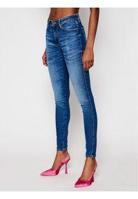 Guess Jeansy Sexy Curve W1RAJ3 D4AO3 Granatowy Skinny Fit. Kolor: niebieski