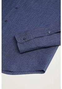 Niebieska koszula Mango Man z klasycznym kołnierzykiem, z długim rękawem, klasyczna, długa