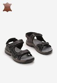 Born2be - Czarne Skórzane Sandały Larimine. Kolor: czarny. Materiał: skóra