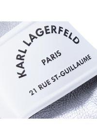 Białe klapki Karl Lagerfeld na co dzień, casualowe