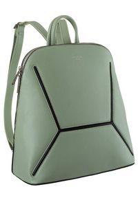 DAVID JONES - Plecak damski j. zielony David Jones 6261-2 L.GREEN. Kolor: zielony. Materiał: skóra ekologiczna
